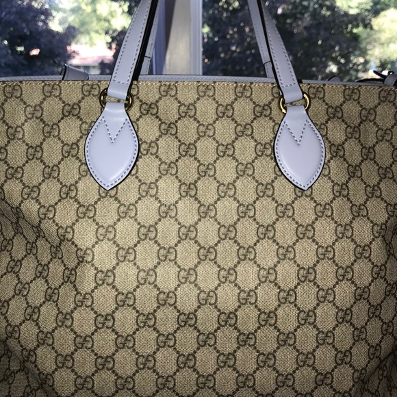 0d7fc8107a59 Gucci Handbags - Baby Blue Gucci diaper bag!